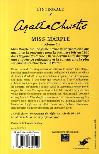Livre agatha christie int grale t 4 miss marple t 2 for Miss marple le miroir se brisa