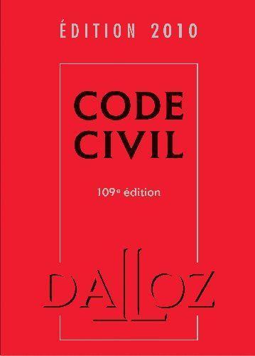 livre code civil dition 2010 collectif acheter occasion 26 08 2009. Black Bedroom Furniture Sets. Home Design Ideas