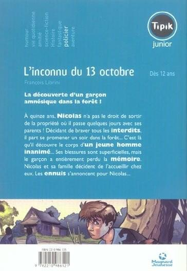 Livre l 39 inconnu du 13 octobre fran ois librini for Chambre criminelle 13 octobre 2004