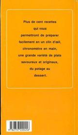 Cuisine rapide t.1 - 4ème de couverture - Format classique