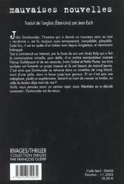 Mauvaises Nouvelles - 4ème de couverture - Format classique