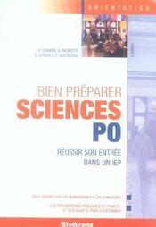 Bien preparer science po ; reussir son entree dans un iep - Intérieur - Format classique