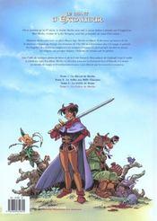 Le chant d'Excalibur t.4 ; la colère de Merlin - 4ème de couverture - Format classique