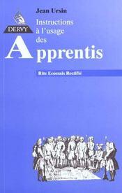Instructions a l'usage des apprentis - Intérieur - Format classique