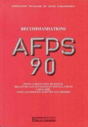 Recommandations afps 90 vol1 - Couverture - Format classique