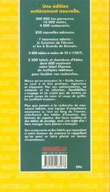 Guide Gault Et Millau France ; Edition 2002 - 4ème de couverture - Format classique