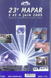 Communications Scientifiques Mapar 2005 - 4ème de couverture - Format classique