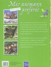Mes animaux sauvages préférés - 4ème de couverture - Format classique