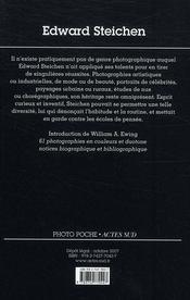 Edward Steichen - 4ème de couverture - Format classique