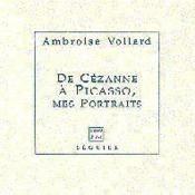 De Cezanne A Picasso, Mes Portraits - Couverture - Format classique