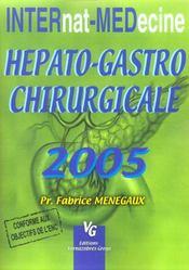 Hepato-Gastro Chirurgicale - Intérieur - Format classique
