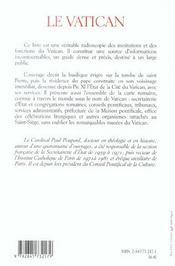 Vatican - 4ème de couverture - Format classique