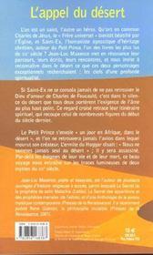 L'Appel Du Desert - 4ème de couverture - Format classique