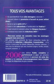 Tous vos avantages 2006 - 4ème de couverture - Format classique