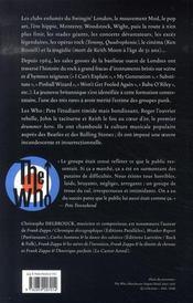 The Who - 4ème de couverture - Format classique