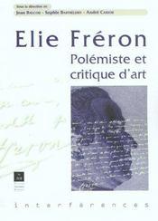 Elie Freron Polemiste Et Critique D'Art - Intérieur - Format classique