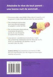 Le sommeil - 4ème de couverture - Format classique