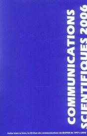Communications Scientifiques Mapar 2006 - Intérieur - Format classique