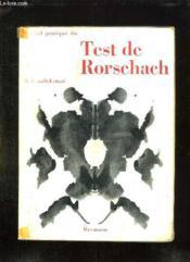 Manuel Pratique Du Test De Rorschach. - Couverture - Format classique