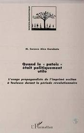 Quand le patois était politiquement utile - Intérieur - Format classique