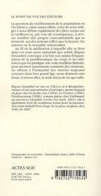 Le syndrôme de Diogène ; éloge de la vieillesse - 4ème de couverture - Format classique