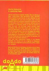 X Comme Xad - 4ème de couverture - Format classique
