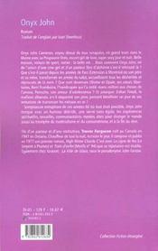 Onyx John - 4ème de couverture - Format classique
