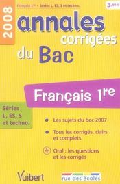 Français ; 1ères toutes séries (édition 2008) - Intérieur - Format classique