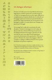 Un dialogue atlantique ; production des sciences du langage au Brésil - 4ème de couverture - Format classique