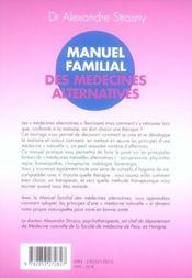 Manuel Familial Des Medecines Alternatives - 4ème de couverture - Format classique