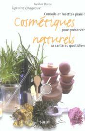Cosmétiques naturels - Couverture - Format classique