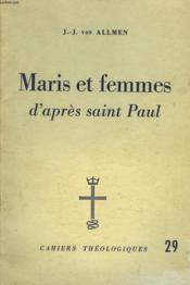 Maris Et Femmes D'Apres Saint-Paul. Cahiers Theologiques 29. - Couverture - Format classique