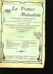 La France Mutualiste 36eme Annee N°330 - Couverture - Format classique