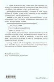 Magnetisme Statique Induction Et Milieux 82 Exercices Et Problemes Corriges Et Commentes - 4ème de couverture - Format classique
