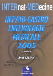 Hépato-gastro-entérologie médicale - Intérieur - Format classique