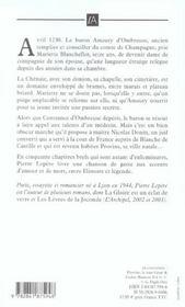 La Dame De Provins - 4ème de couverture - Format classique