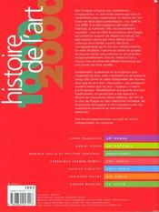 Histoire De L'Art 1000-2000 - 4ème de couverture - Format classique