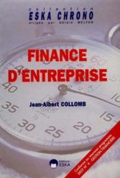 Finance D'Entreprise - Couverture - Format classique