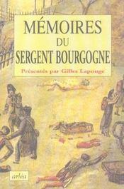 Memoires du sergent bourgogne - Intérieur - Format classique