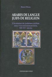 Arabes de langue ; juifs de religions - Intérieur - Format classique