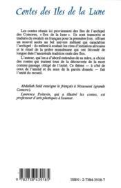Contes des îles de la lune - 4ème de couverture - Format classique