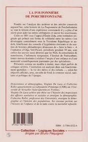 La Pouponniere De Porchefontaine ; L'Experience D'Une Institution Sanitaire Et Sociale - 4ème de couverture - Format classique