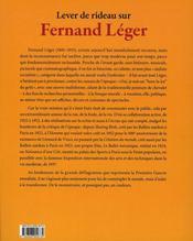 Lever le rideau sur Fernand Lèger - 4ème de couverture - Format classique