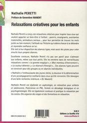 Relaxations créatives pour les enfants - 4ème de couverture - Format classique