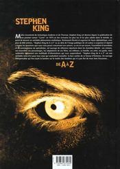 Stephen King De A A Z - 4ème de couverture - Format classique