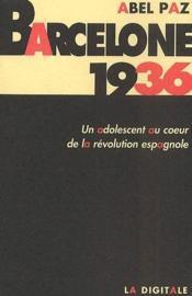 Barcelone 1936 - Couverture - Format classique
