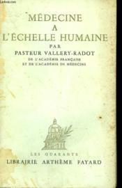 Medecine A L'Echelle Humaine. - Couverture - Format classique