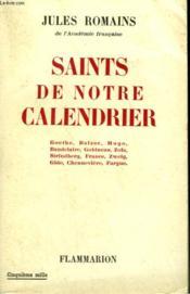 Saints De Notre Calendrier. - Couverture - Format classique