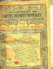 CARTES DEPARTEMENTALES DE LA FRANCE AU 200.000é - N°64 BASSES PYRENEES - Couverture - Format classique