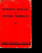 Memento Medical Des Stations Thermales - Couverture - Format classique